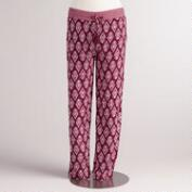 Red and Pink Ikat Lexi Soft Pants