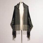 Black Hooded Makenzie Wrap