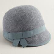 Gray Wool Cap Hat