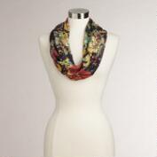 Abstract Floral Knit Snood Scarf