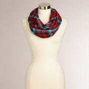Red Tartan Plaid Infinity Scarf