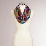 Floral with Gray  Border Scarf