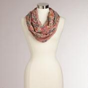 Pink Paisley Kantha Infinity Scarf