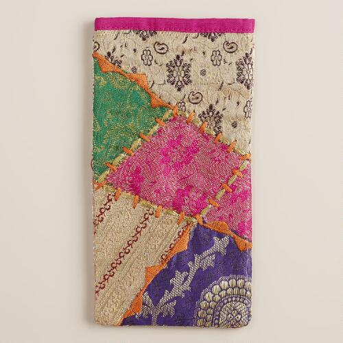 Sari Patchwork Eyeglass Case