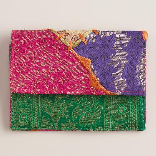 Sari Patchwork Credit Card Holder
