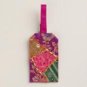 Sari Patchwork Luggage Tag