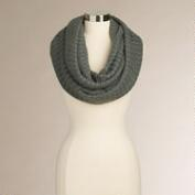 Dark Gray Ribbed Infinity Scarf