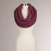 Mauve Ribbed Infinity  Scarf