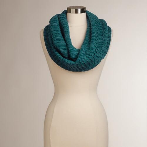 Cobalt Blue Ribbed Infinity Scarf