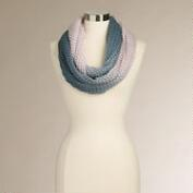 Navy and Lavender Ombre Infinity Scarf