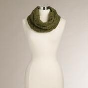 Olive Green Funnel Scarf