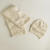 Ivory Infinity Scarf and Hat Set