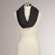 Charcoal Gray Knit Funnel