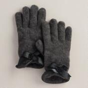Grey Bow Gloves