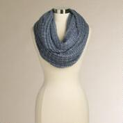 Blue Sequin Infinity Scarf