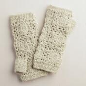 Flower Crochet Fingerless Gloves