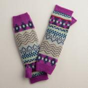 Fuscia Fairisle Arm Warmers