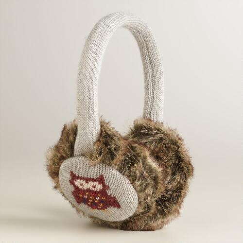 Owl Faux Fur Earmuffs