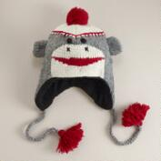 Sock Monkey Wool Hat