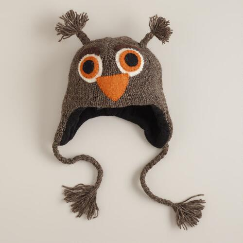 Brown Owl Wool Hat