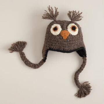 Kids Owl Wool Hat