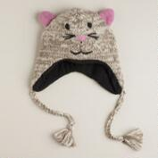 Gray and Pink Cat Hat