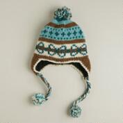 Mint Fairisle Pom Wool Hat