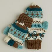 Mint Fairisle Wool Glittens
