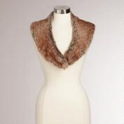 Brown Fox Faux Fur Scarf