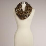Brown Leopard Faux Fur Snood