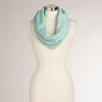 Mint Green Faux Fur Snood