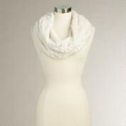 Ivory Faux Fur Snood
