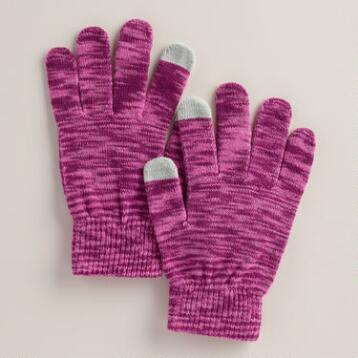 Purple Marled Touch Screen  Gloves