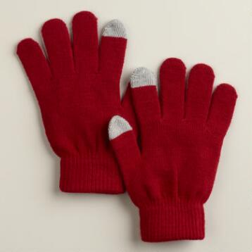Red Touch Screen  Gloves