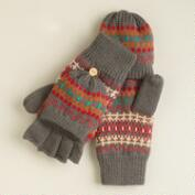 Gray Fairisle  Glittens
