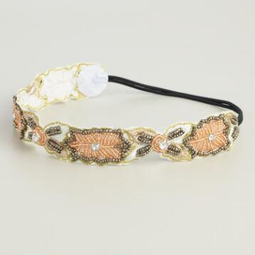 Floral Fabric Applique Headband
