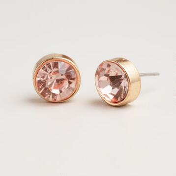 Light Colorado Topaz Stud Earrings