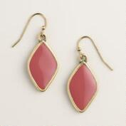 Mauve Diamond Drop Earrings