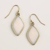 Blush Pink Diamond Drop Earrings