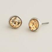 Round Topaz  Stud Earrings