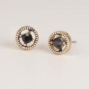 Black and Gold Stud Earrings