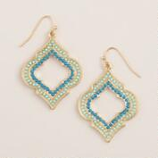 Turquoise and Blue Lantern Drop Earrings