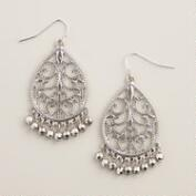 Silver Filigree Ball Drop Earrings