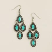 Silver & Turquoise Chandelier Earrings