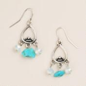 Small Silver Turquoise Dangle Earrings