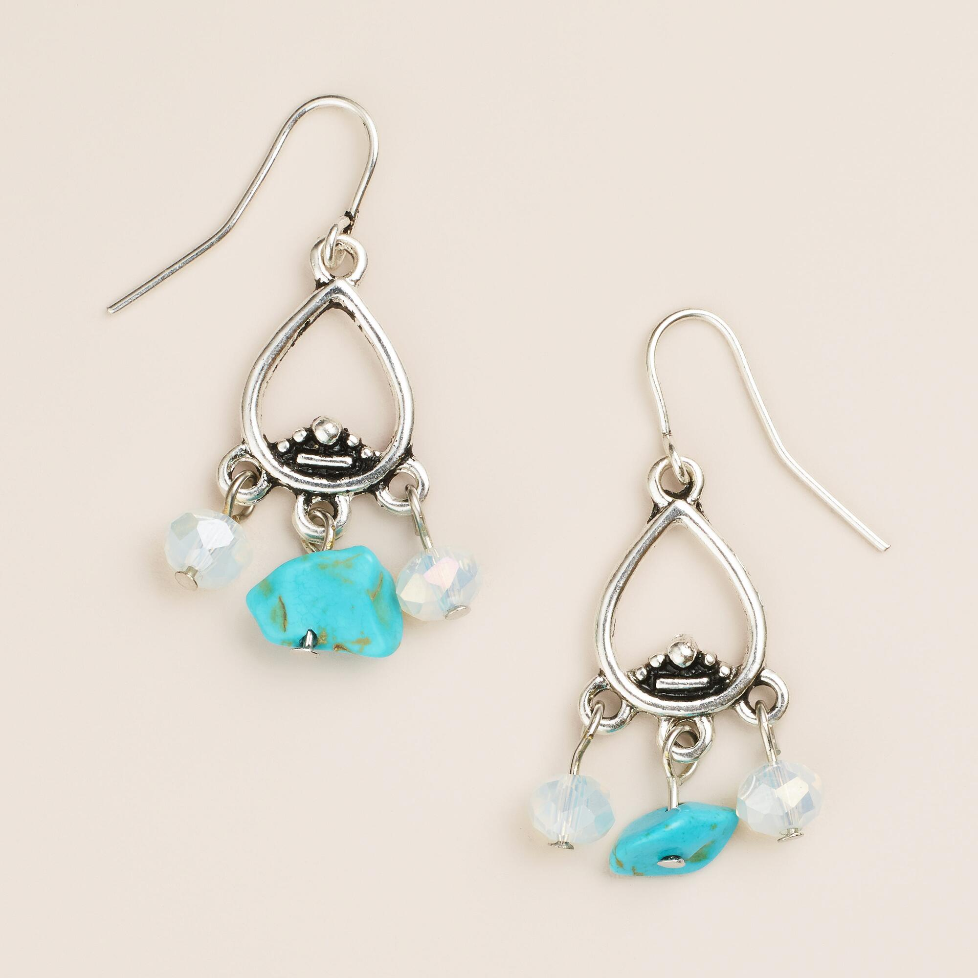 small silver turquoise dangle earrings world market. Black Bedroom Furniture Sets. Home Design Ideas