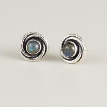 Labradorite Swirl  Stud Earrings