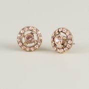 Blush Pink Sparkle Stud Earrings
