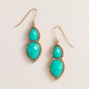 Mint Double Drop Earrings