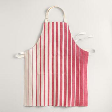 Red Ombre Stripe Apron